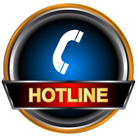 Blue hotline logo on a white background Vector