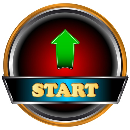 New start button on a white background Vector