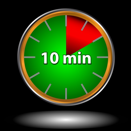 Unique icon of hours with ten minutes Vector