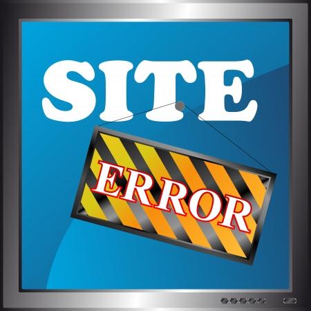 New site error icon in the monitor Stock Vector - 16526978