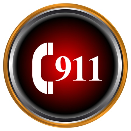 bad service: 911 emergency icon on a white background