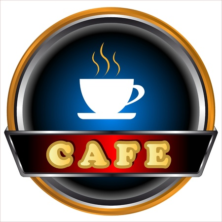 New cafe logo on a white background Stock Vector - 16583192