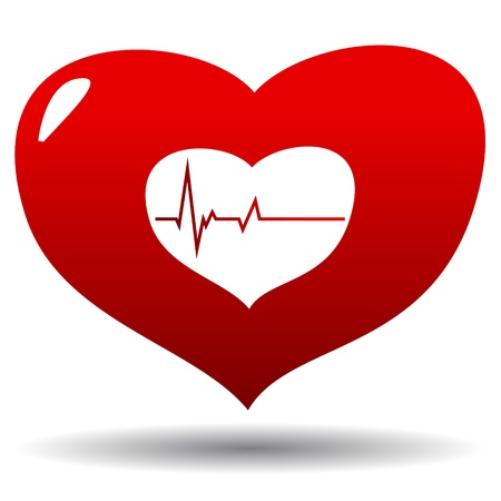 New heart beat logo in unique style Stock Vector - 16656609