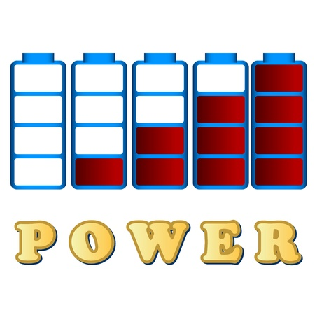 The interesting concept of power in the form of batteries Vector