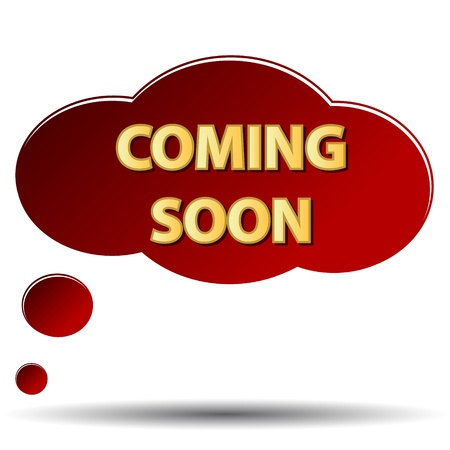 Coming soon symbol in the form of a cloud  Stock Vector - 16656687
