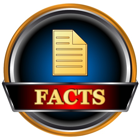 New facts icon on a white background Stock Vector - 16797984