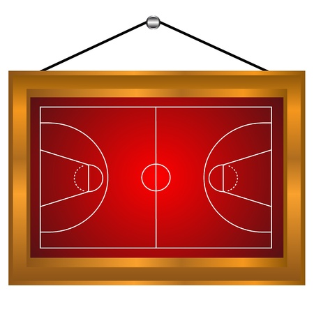 Basketball platform in a frame on a white background Vector