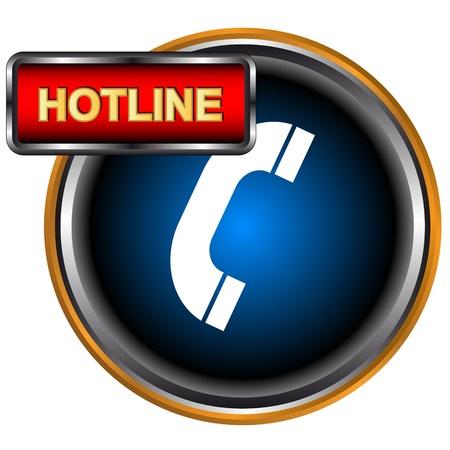 hotline: Blau Hotline logo auf wei�em Hintergrund