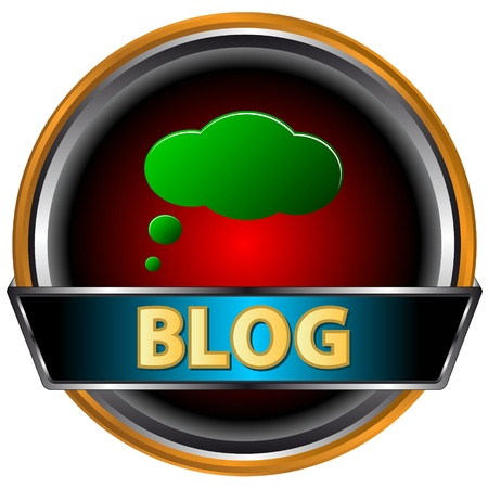 Unique the blog icon on a white background