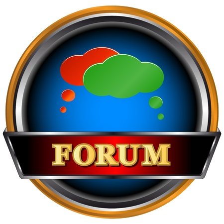 Best forum icon on a white background Stock Vector - 16797989