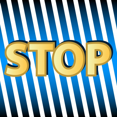 New stop symbol on a unique background Stock Vector - 16798019