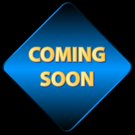 Coming soon icon on a black background Vector