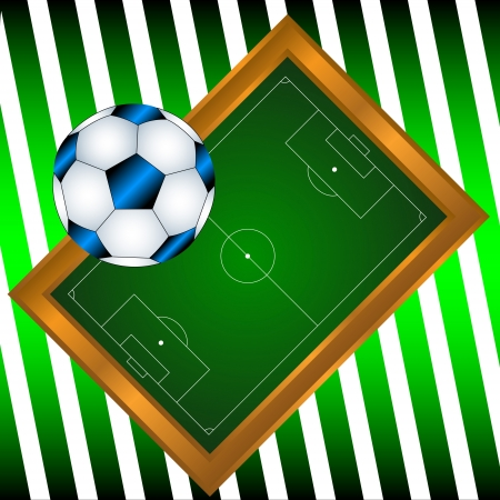 Interesting concept from a ball and a football field Stock Vector - 16798027