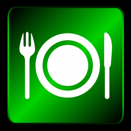New restaurant icon with plug and knife  Vector