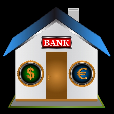 Symbol of the bank on a black background Stock Vector - 16900282