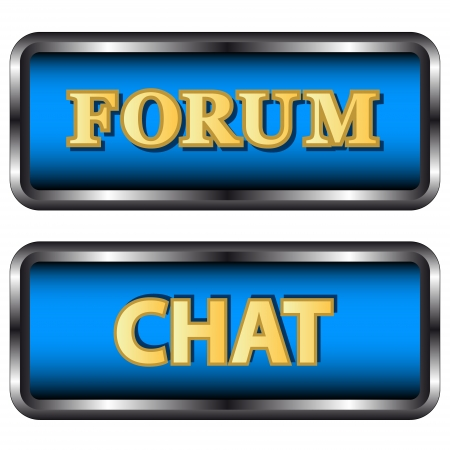 Forum and chat icons on a white background Stock Vector - 16900308