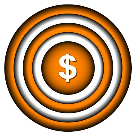 New dollar icon in the target center Stock Vector - 16900273