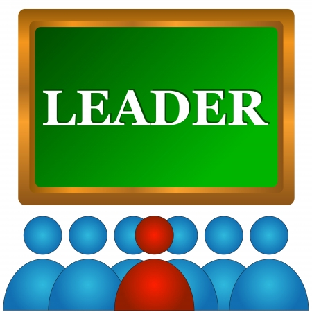 mlm: Images of the leader and that who follows it Illustration