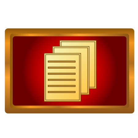 New gold document on a white background Stock Vector - 16900284