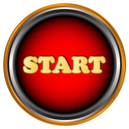 New start button on a white background Stock Vector - 16900305
