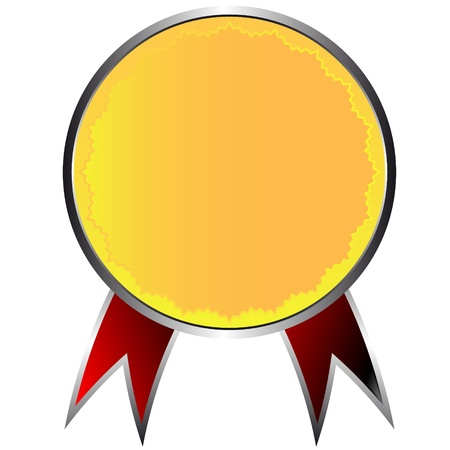 New gold medal on a white background Vector