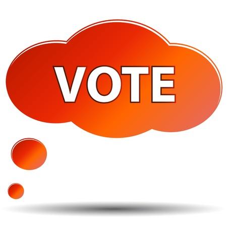suffrage: New Vote symbol on a white background
