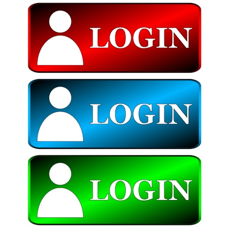 Login web icons in unique style on a white background Stock Vector - 17309319