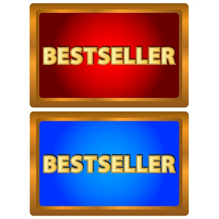 Gold icons of the bestseller on a white background Stock Vector - 17309303