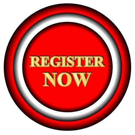 Register now logo on a white background Stock Vector - 17309316
