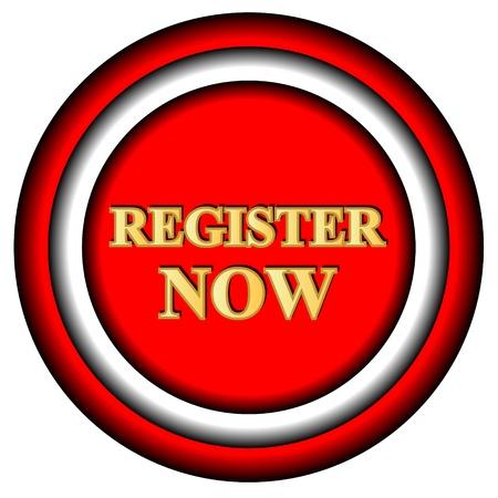 programme: Registrarse ahora logotipo sobre un fondo blanco