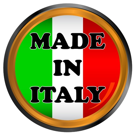 Made in italy icon on a white background Stock Vector - 17309318