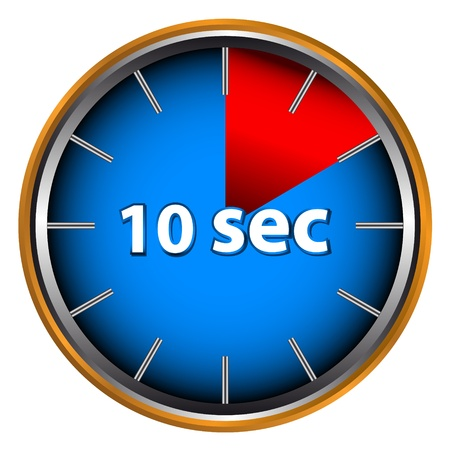 Unique icon of hours with ten seconds Vector
