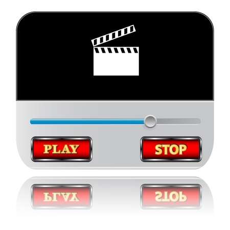 New universal player on a white background Vector
