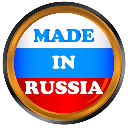 made russia: Made in russia icon on a white background