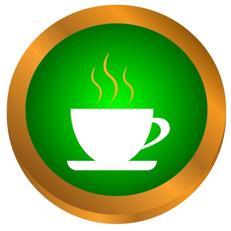 New coffee icon on a white background Stock Vector - 17609586