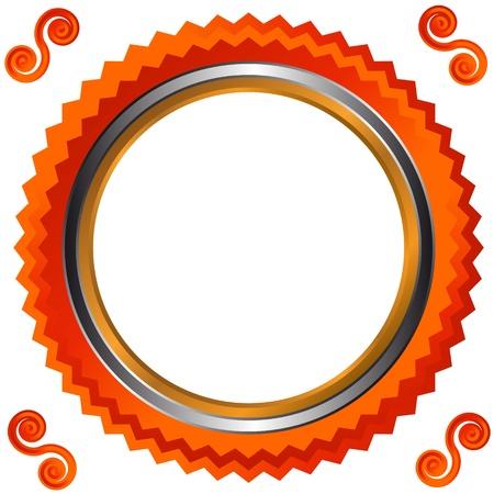 bordering: Icono de estilo naranja sobre un fondo blanco Vectores
