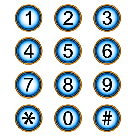 null: Numbers web icons on a white background Illustration