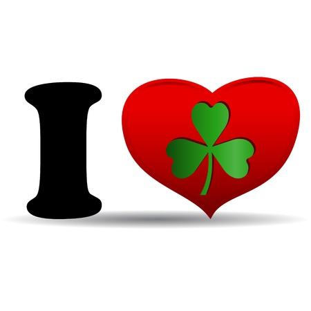 I love clover icon on white background Stock Vector - 17744126