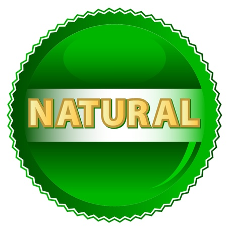 handmade soap: Green natural symbol located on a white background