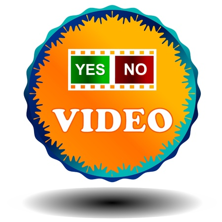Orange video logo on a white background Stock Vector - 17744169