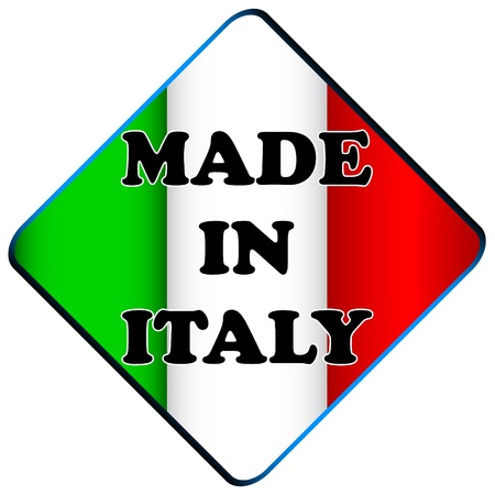 Made in italy logo on a white background Stock Vector - 17744166