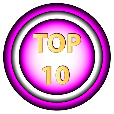surpass: New Top ten symbol on a white background Illustration