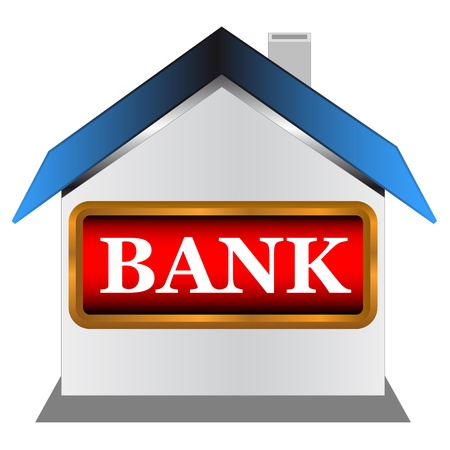 Symbol of the bank on a white background Vector