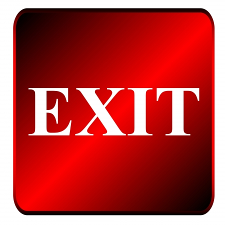 hinged: New exit symbol located on a white background