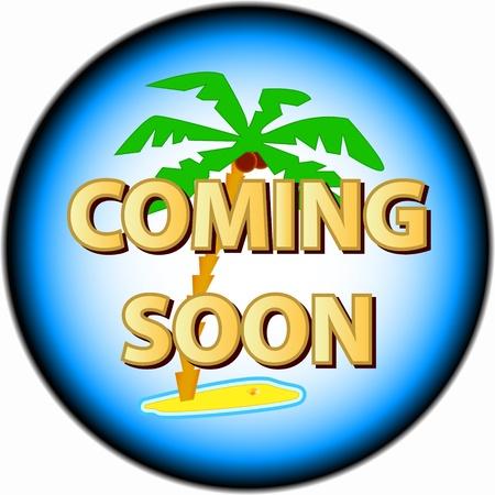 soon: Binnenkort logo op een witte achtergrond