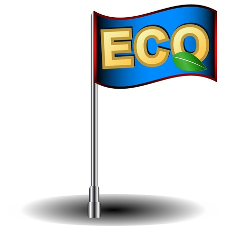 New blue eco flag in a unique style Stock Vector - 17744172
