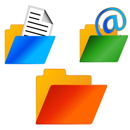 New folders set on white background Stock Vector - 17744196