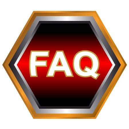 Faq web icon on a white background Stock Vector - 17744175