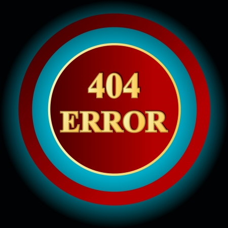 Red error symbol on a blue background Vector