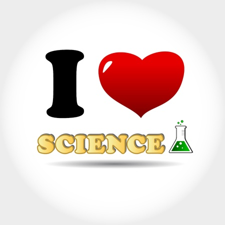 I love science icon on a white background Stock Vector - 17897242